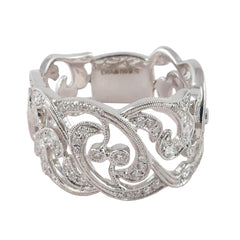 18ct White Gold & Diamond Ring, 0.51ct