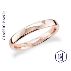 Traditional 18ct Rose Gold Wedding Band - price from