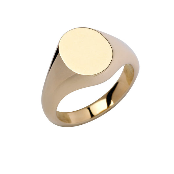 18ct Yellow Gold Cushion Signet Ring