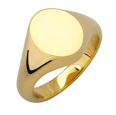 18ct Yellow Gold Large Oval Signet Ring