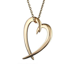 Yellow Gold Vermeil Heart Pendant