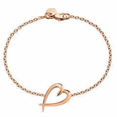 Rose Gold Vermeil Heart Bracelet
