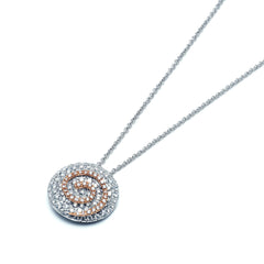 18ct White Gold and Rose Gold Pendant, 1.09ct