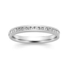 Platinum Set Diamond Half Eternity Ring, 0.50ct