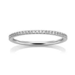 18ct White Gold & Diamond Ring, 0.13ct
