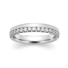 Platinum Diamond Set Half Eternity Ring, 0.34ct