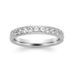 Platinum Set Diamond Half Eternity Ring, 0.56ct