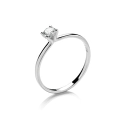 Platinum Solitaire Engagement Ring, 0.25ct