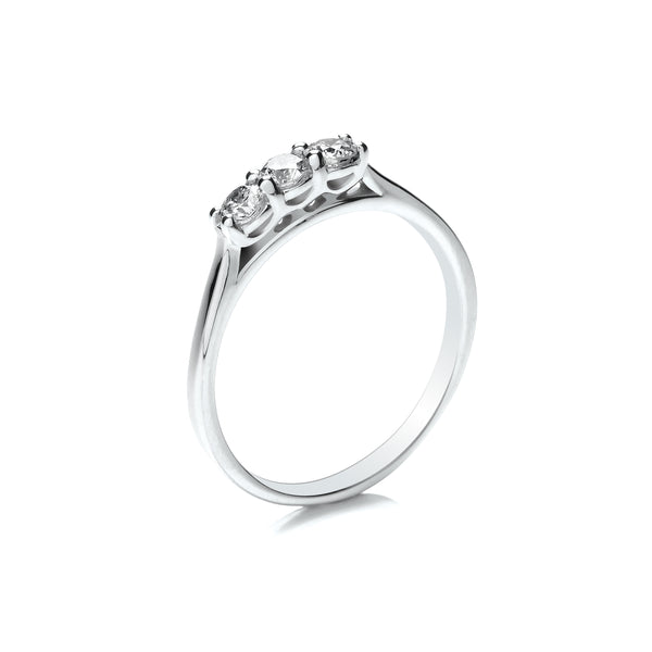 Platinum Three Stone Engagement Ring, 0.33ct
