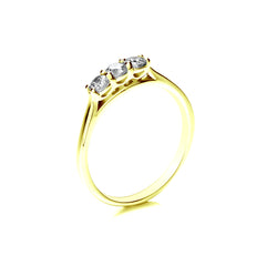 18ct Yellow Gold Three Stone Engagement Ring, 0.33ct