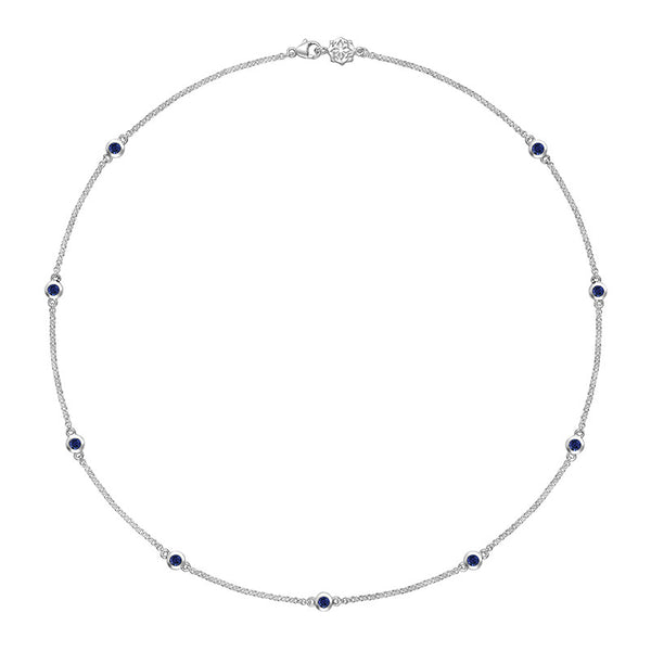 Sterling Silver Blue Sapphire Twinkle Chain Necklace