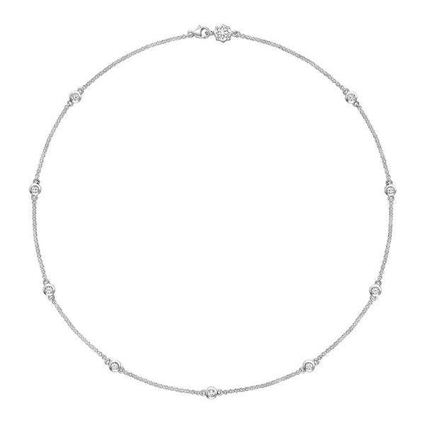 Sterling Silver White Sapphire Twinkle Chain Necklace