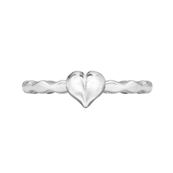 Sterling Silver Heart Twinkle Ring