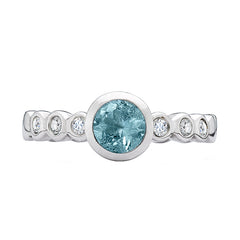 Sterling Silver 5mm Aquamarine Dewdrop Twinkle Ring