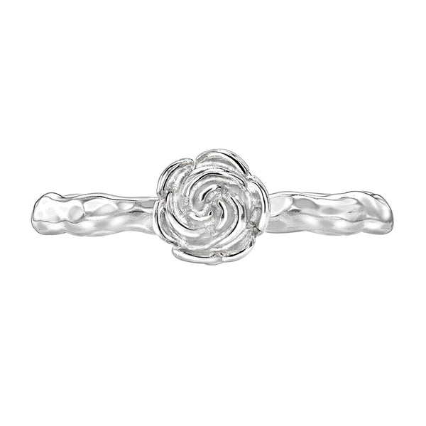 Sterling Silver Rose Twinkle Ring