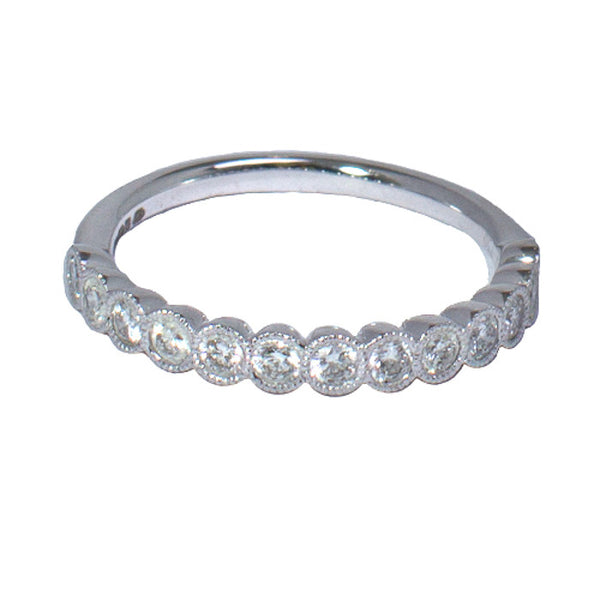 Platinum Diamond Half Eternity Ring, 0.45ct