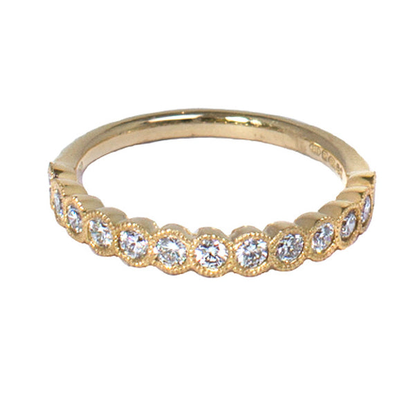 18ct Yellow Gold Diamond Half Eternity Ring, 0.50ct