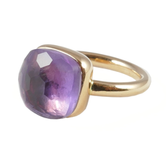 18ct Rose Gold Amethyst Cabouchon Ring