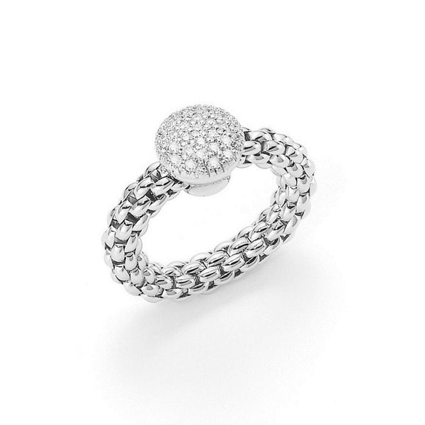 18ct White Gold & Diamond Flex'it Solo Ring, 0.41ct - from