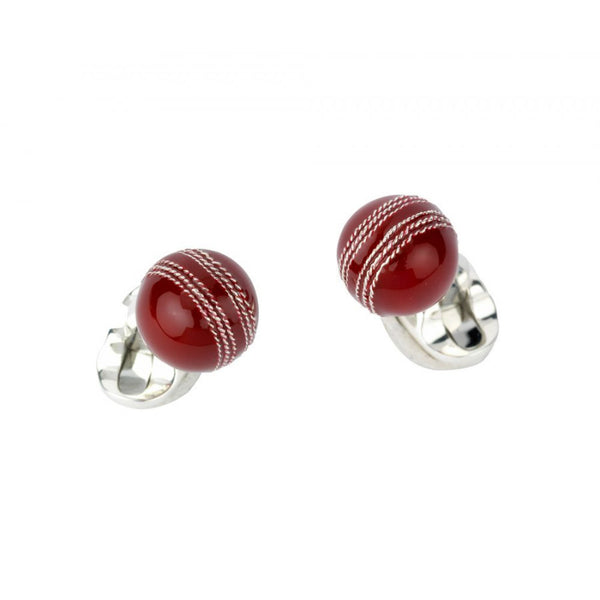 Sterling Silver Cricket Ball Cufflinks
