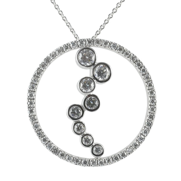 18ct White Gold Diamond Set Pendant, 1.20cts