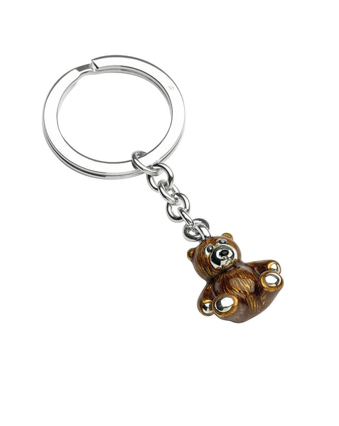 Silver Teddy Key Ring