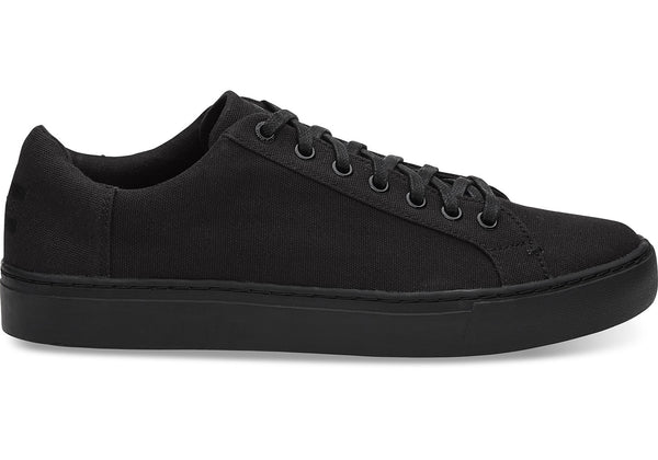 Toms - Men`s Lenox Sneakers/Vegan - Black/Black Canvas
