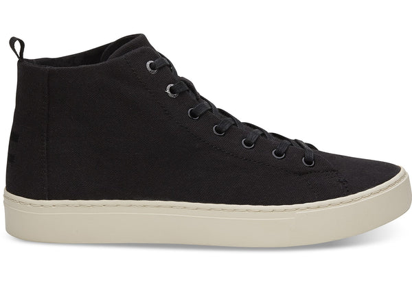 Toms - Men`s Lenox Mid Sneakers/Vegan - Black Hemp