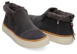 Toms - Women`s Paxton Slip-Ons - Forged Iron Grey Suede/Faux Fur Water Resistant