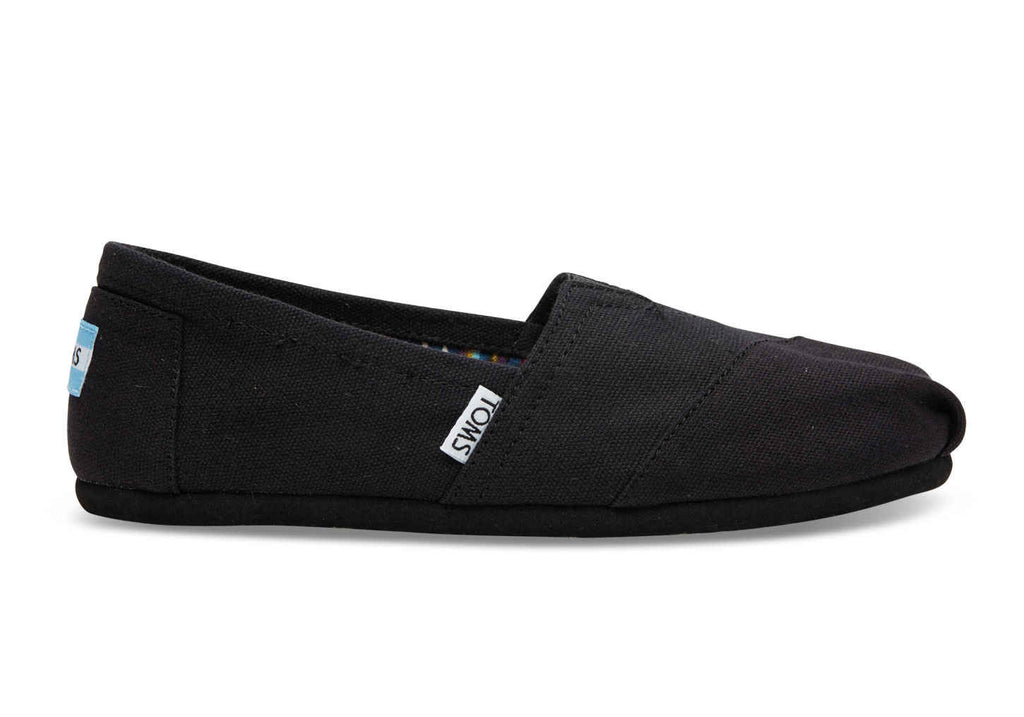 Toms - Women`s Classic Alpargatas - Black On Black Canvas