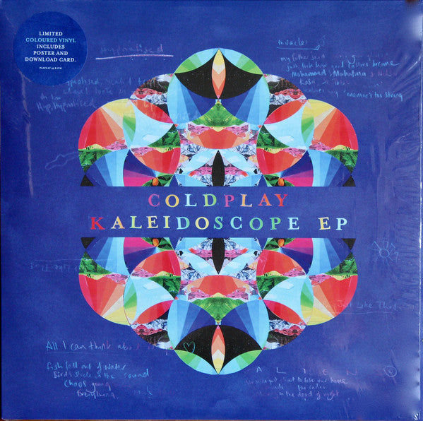 "Coldplay - Kaleidoscope EP - Limited Edition (12"" Light Blue Vinyl Album + Poster + Download Card)"