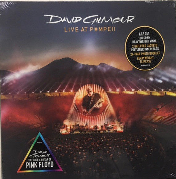 David Gilmour - Live At Pompeii - David Gilmour The Voice & Guitar Of Pink Floyd (180 Gram Heavyweight Double Gatefold Jacket 4 Vinyl Album + 24 Page Photo Booklet Heavyweight Slipcase)
