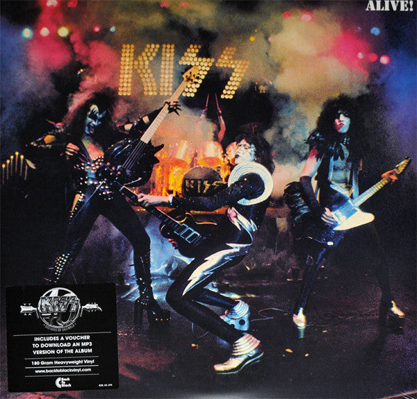 Kiss - Alive! (180 Gram Heavyweight Double Vinyl Gatefold Sleeve Album + MP3 Download Voucher)