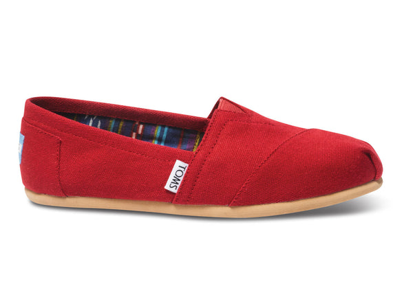 Toms - Women`s Classic Alpargatas - Red Canvas