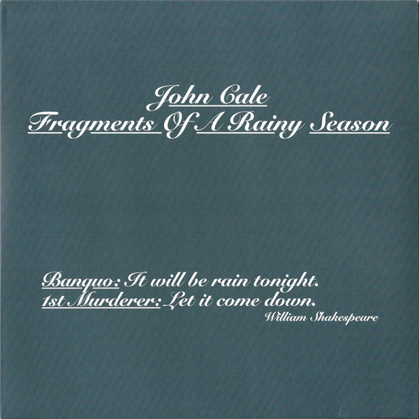 Cale John - Fragments Of A Rainy Season (Remastered 180 Gram Double Vinyl Album + Download Card)