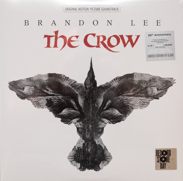 Various - The Crow (Original Motion Picture Soundtrack) - White Vinyl  + Black Vinyl Single Sided - Record Store Day