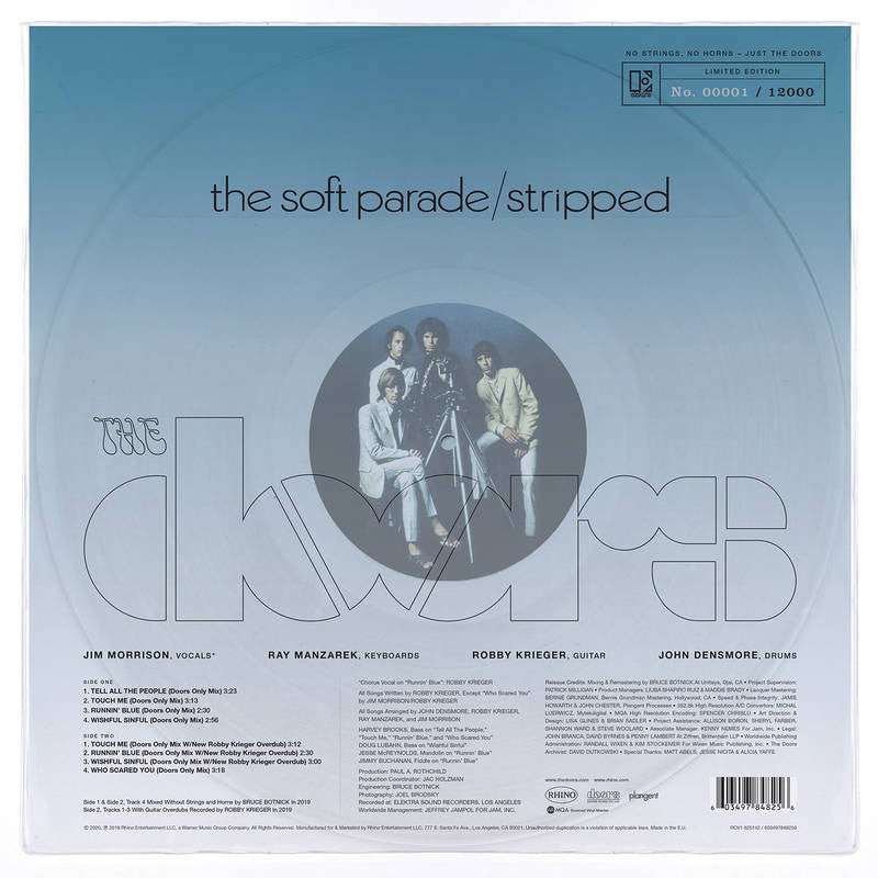 Doors - The Soft Parade / Stripped - Limited Edition - Record Store Day ( Clear Vinyl)
