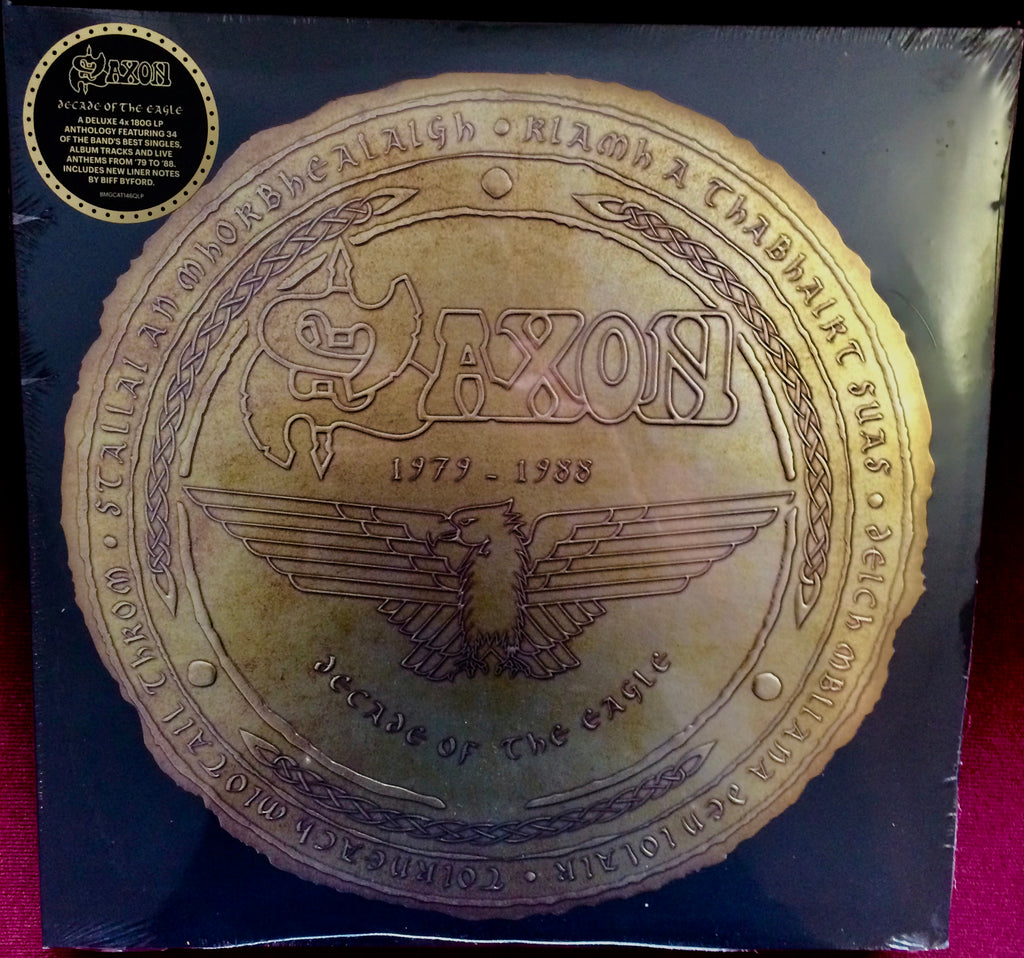 Saxon - Decade Of The Eagle: The Anthology 1979-1988 (4 x 180 Gram Vinyl Compilation Gatefold Album + New Liner Notes By Biff Byford)