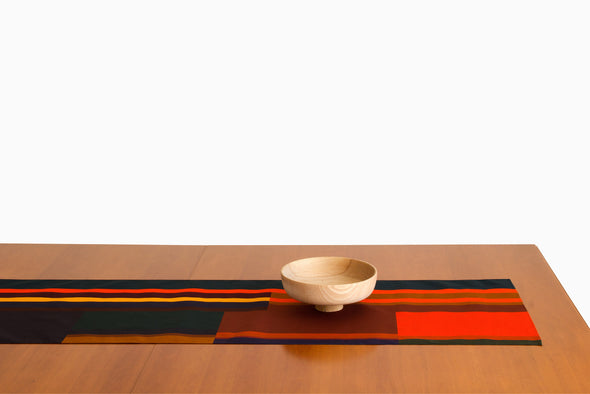 Surface designer and artist Ona Boix has created this table runner to dress your home and fill it with warm and vivrant colors. Hand sewn in barcelona. One of a few.