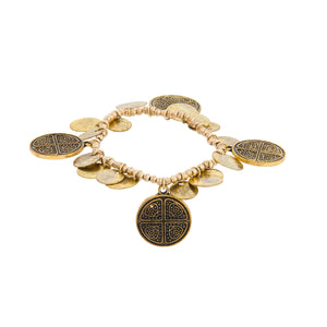 Multi Coin Stretch Bracelet - Japri