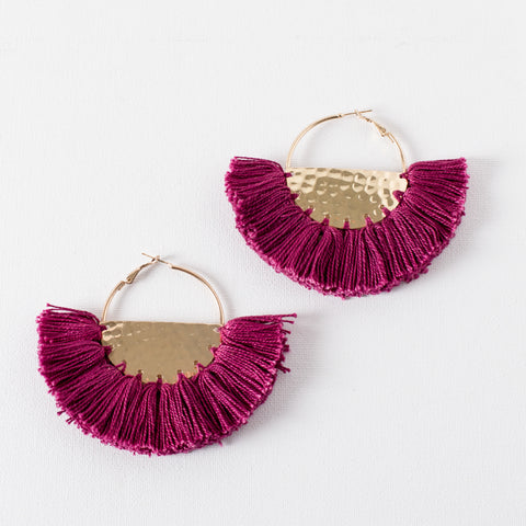 Half Circle Fringed Earrings - Japri