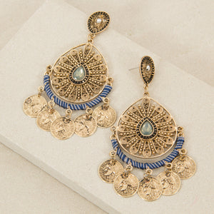 Teardrop coin earrings - Japri
