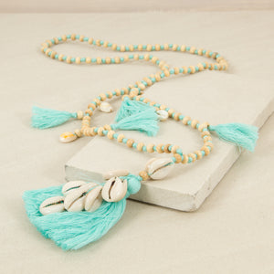 Multi Tassel Shell Necklace - Japri