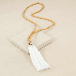 Wooden Bead & Shell Necklace - Japri