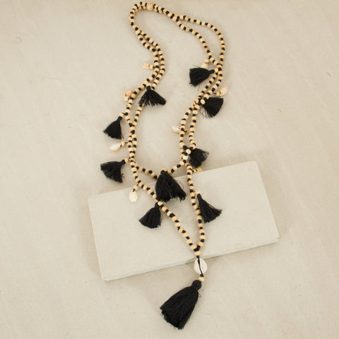 Double Strand Tassel & Shell Necklace - Japri