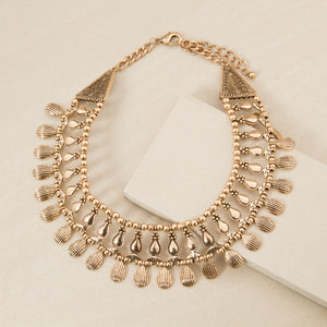Teardrop Edge Collar Necklace - Japri