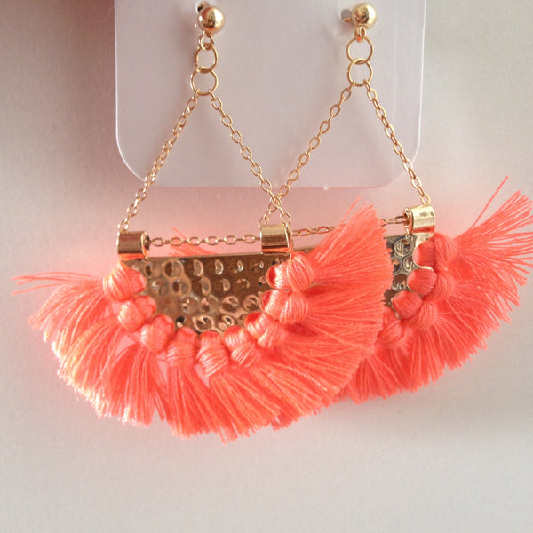 Fringed Drop Earrings - Japri
