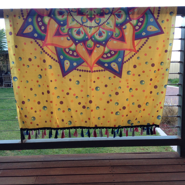 Bright Bubbles Mandala Throw - Japri
