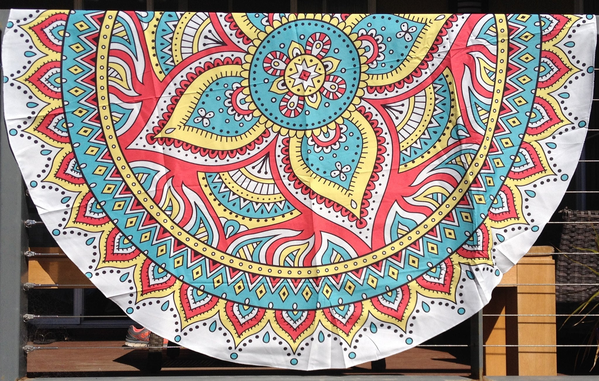 Floral Mandala Throw - Japri