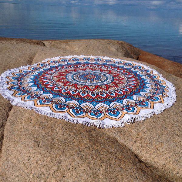Tribal Floral Beach Towel - Japri